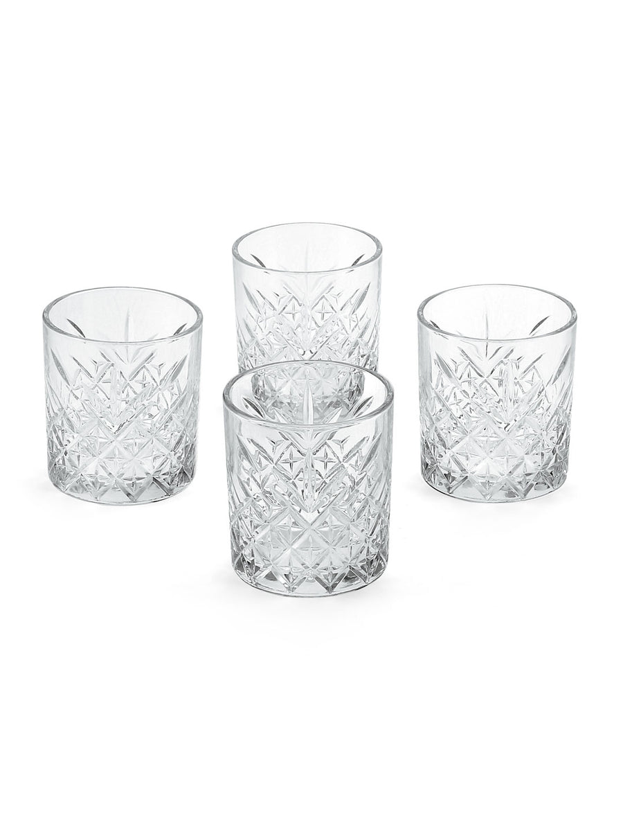 Timeless Whiskey Tumbler Set Of 4 345Ml (Transparent)