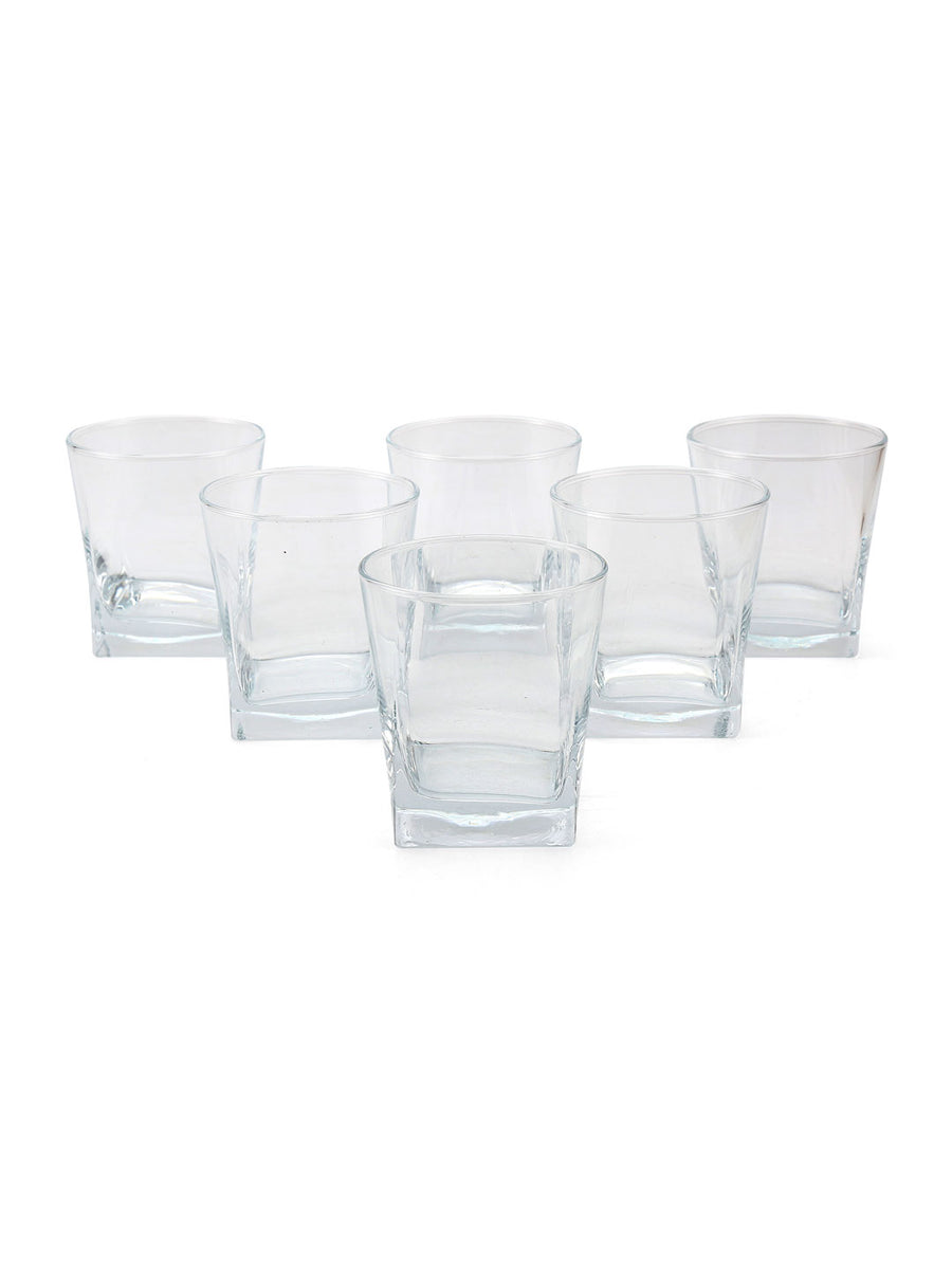 Carre Whisk 310 ml Tumbler 6 Pieces (Clear)