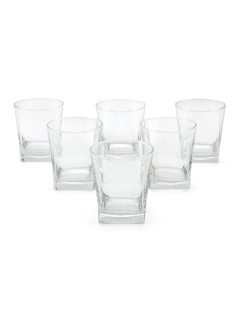 Carre 200 ml Tumbler 6 Pieces (Clear)