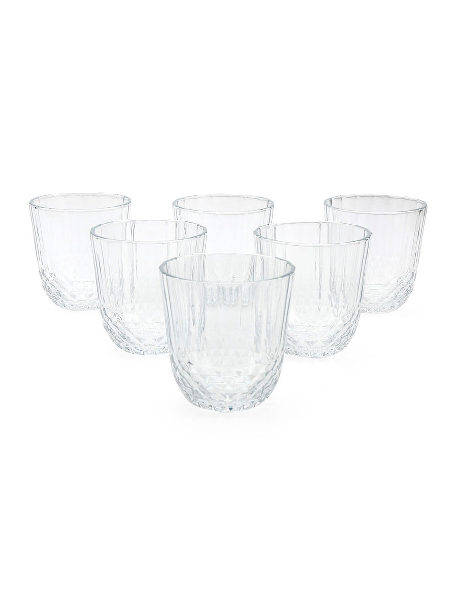 Diony Whisky Stemware 320 ml Glasses 6 Pieces (Clear)