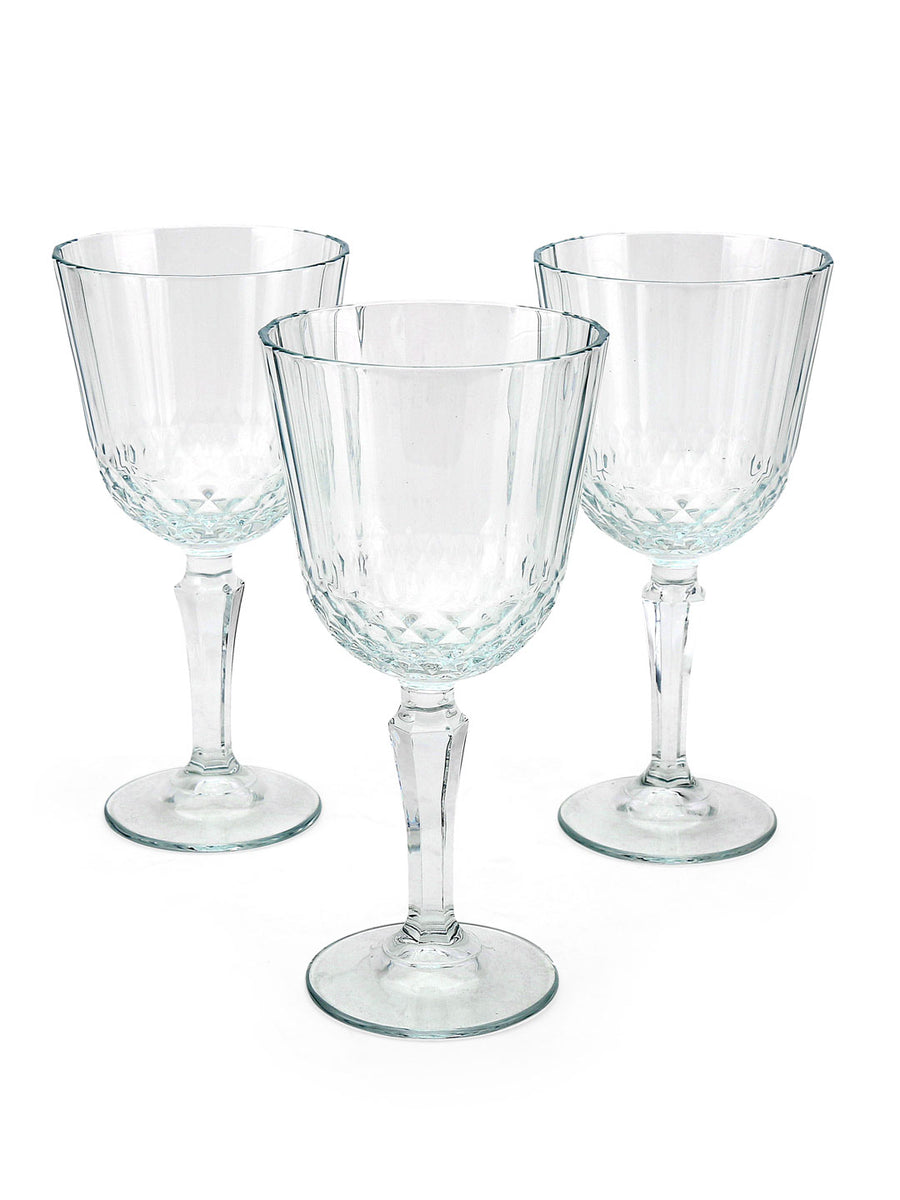 Diony Red Wine Stemware 310 ml Glasses 3 Pieces (Clear)