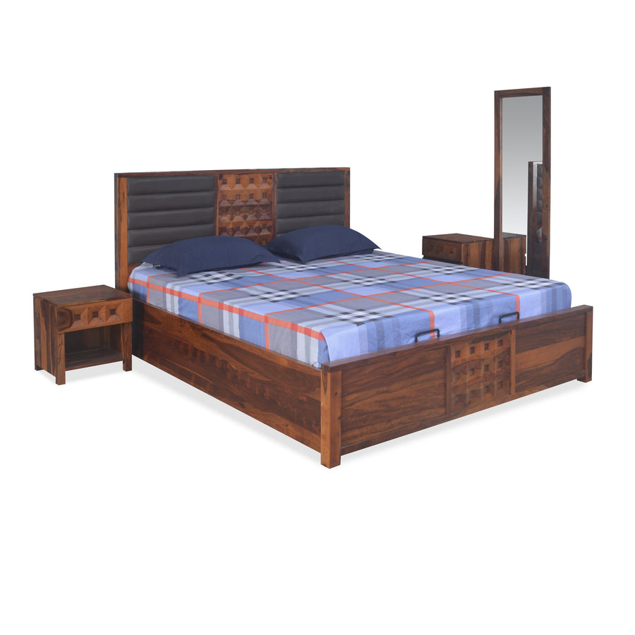 Hulk King Bedroom Set with Storage (Walnut)