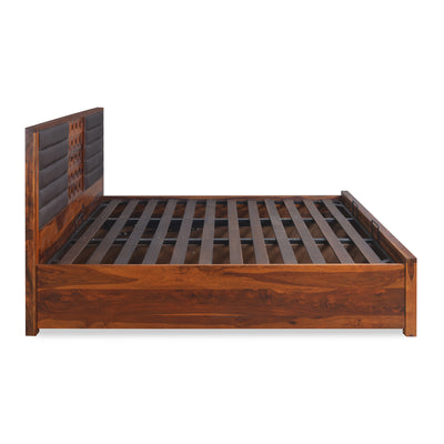Hulk Queen Bed With Storage (Walnut)