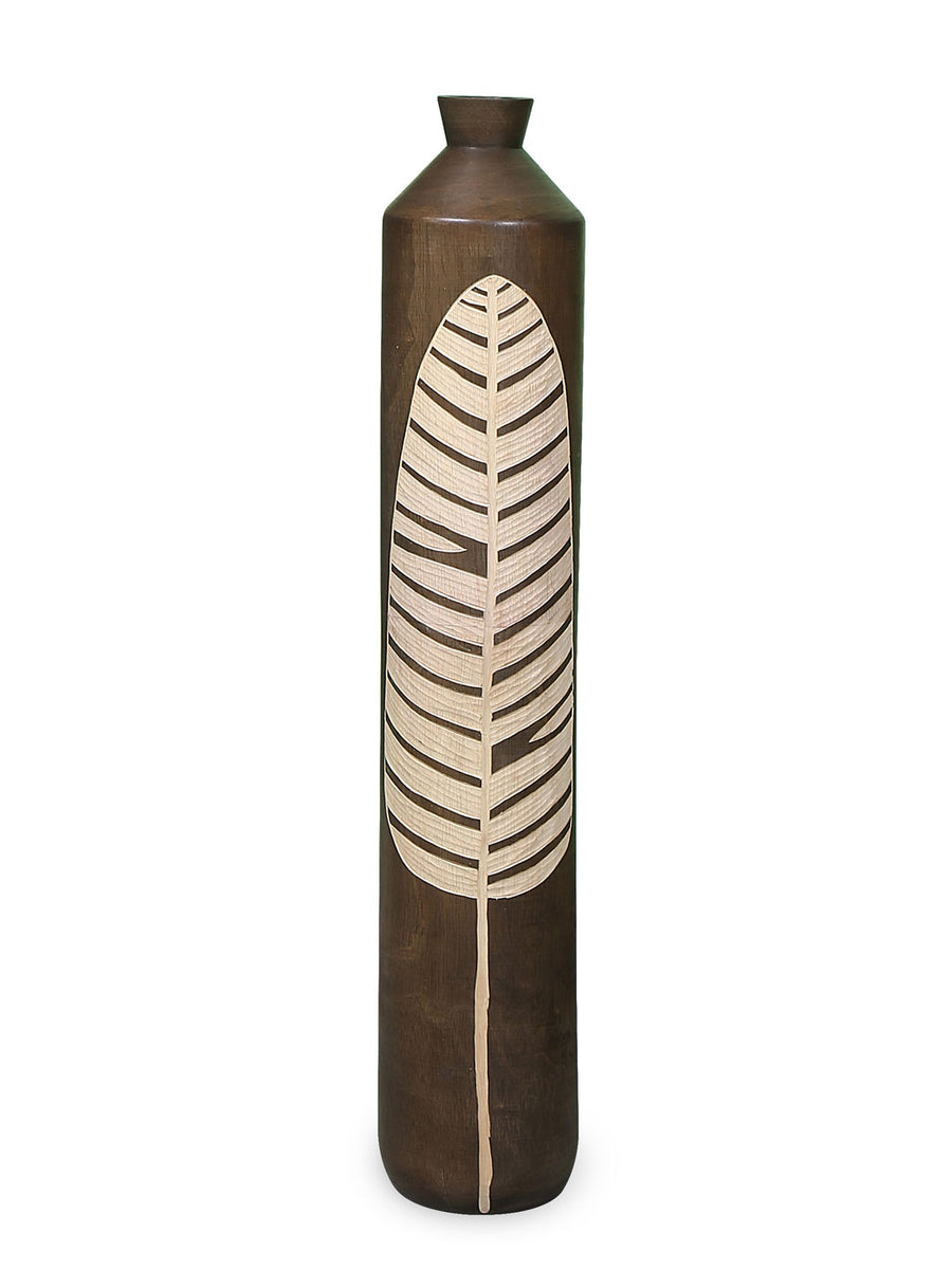 Banana Leaf Floor Vase (Brown)