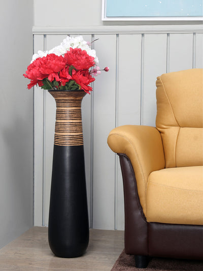 Tribal Thread Vase (Brown)