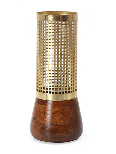 Upper Jali Cutwork Vase (Gold)