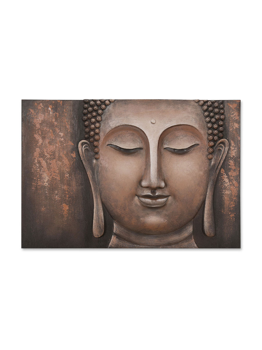 Buddha Face Wall Decor (Brown)