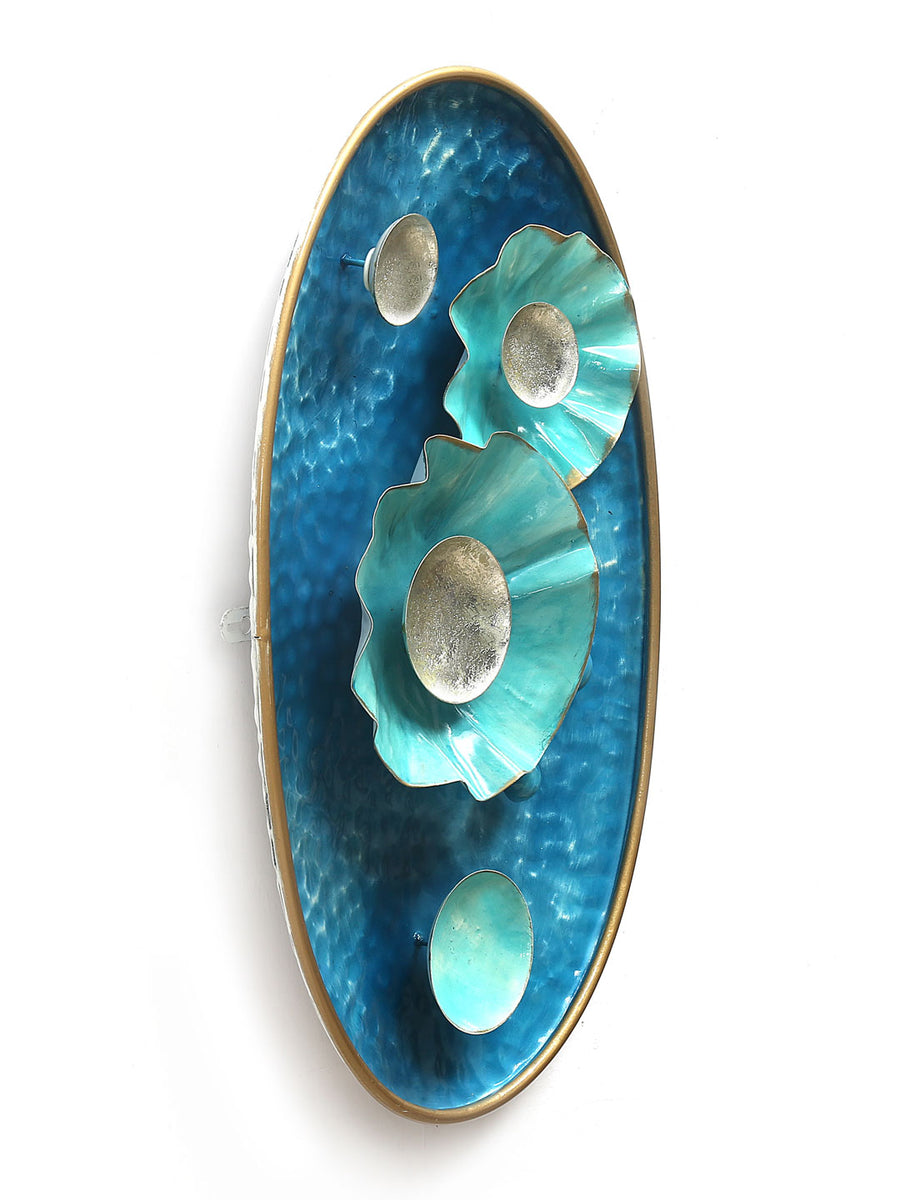 Pearls Oval Wall Decor (Sea Green)