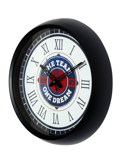 """83"" One Team One Dream Wall Clock (Black)"