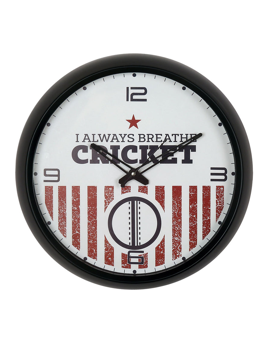 """83"" Breath Cricket Wall Clock (Red)"