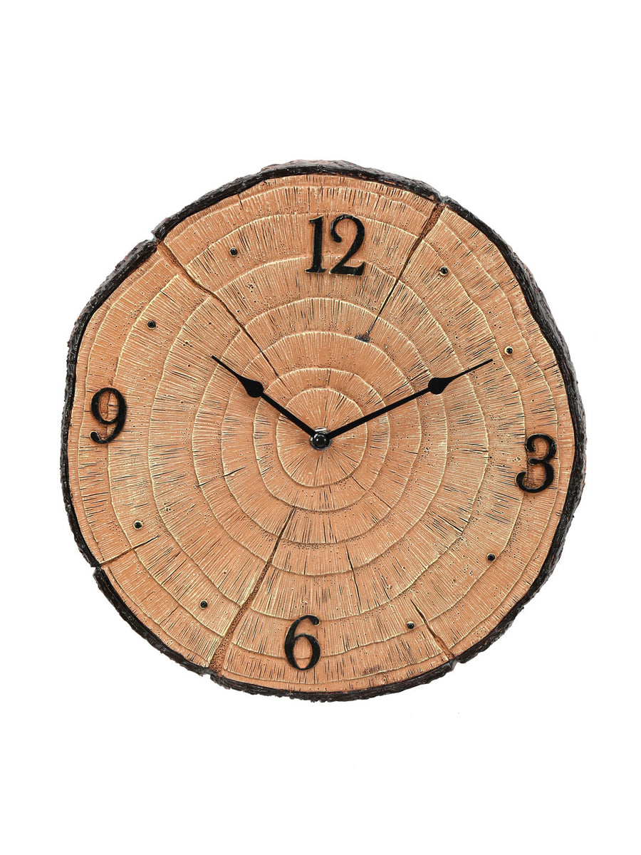 Tree Trunk Wall Clock  (Brown)