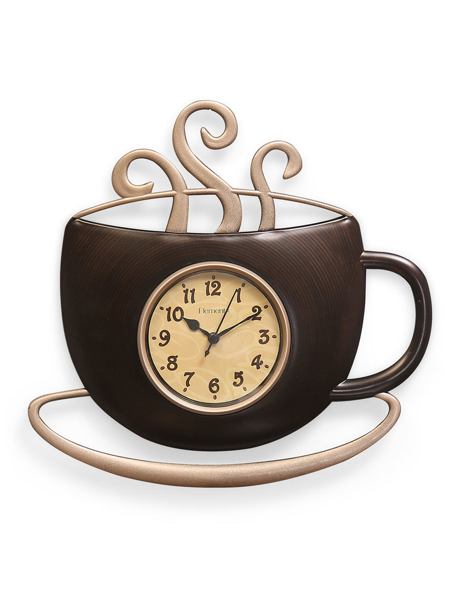 Tea Cup Wall Clock (Brown)