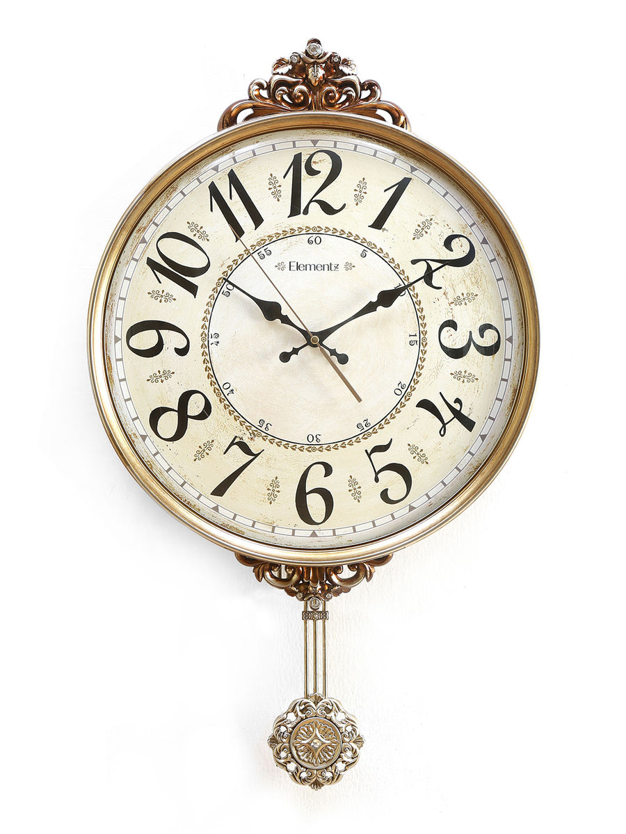 Pendulum Wall Clock (Gold)