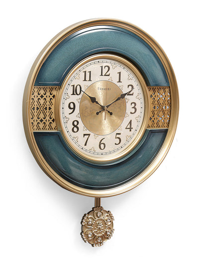 Persian Pendulum Wall Clock (Blue)