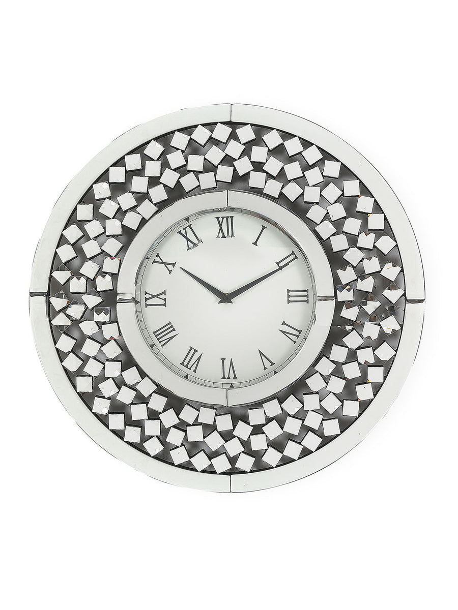 Cirque Crystal Wall Clock (Silver)