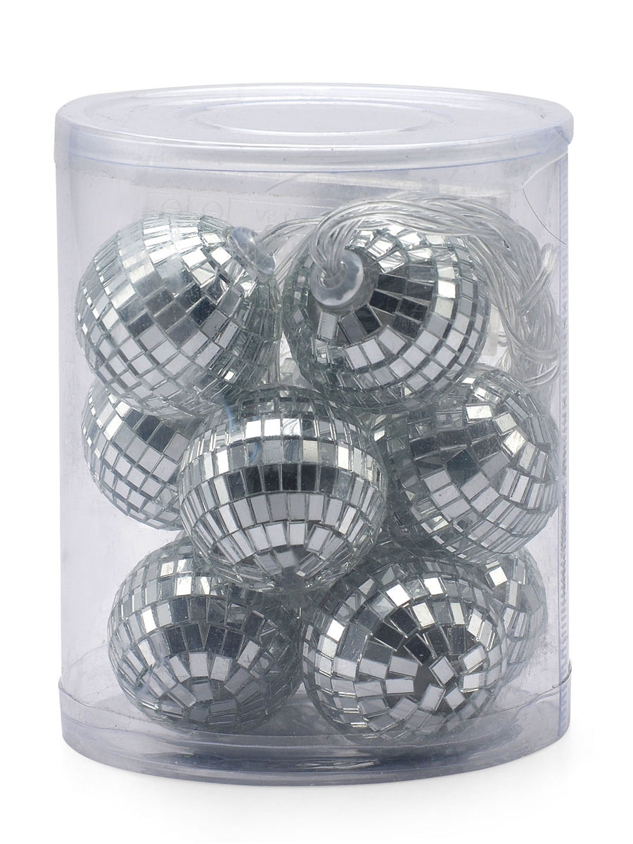 Disco Ball Festive String Light (Silver)