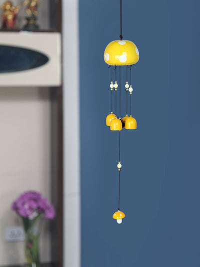 Mushroom Metal Windchime (Yellow)