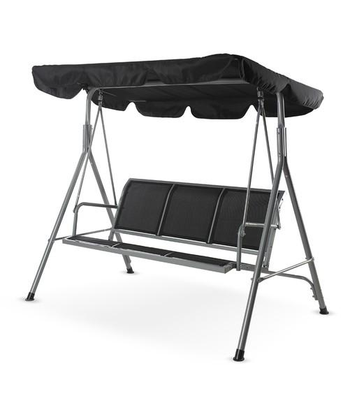Comfy 3 Seater Swing (Grey & Black)