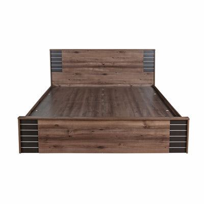 Iconic King Bed with Box Storage (Brown)