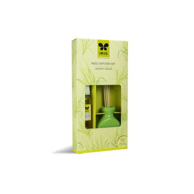 Iris Promo Reed Diffuser-Lemon grass( Green)