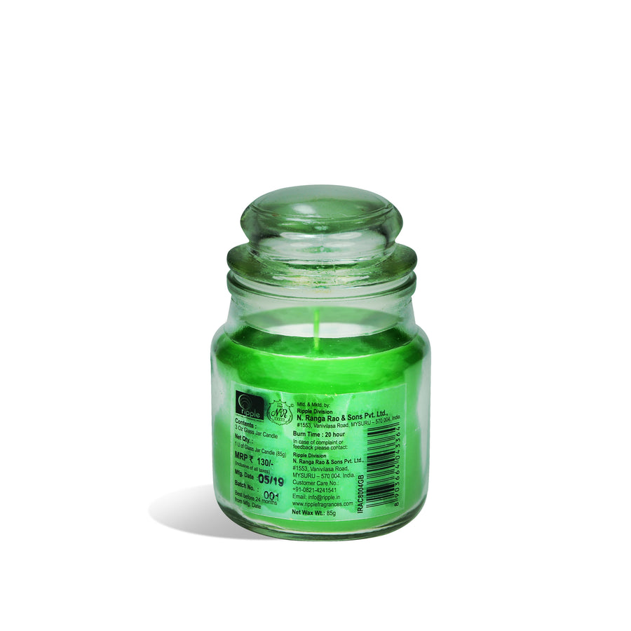 Iris Jar Candle Green Tea & Bamboo( Green)