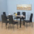 Isaac 6 Seater Dining Set (Black)