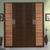 Istanbul 4 Door Wardrobe without Mirror (Walnut & Bronze)