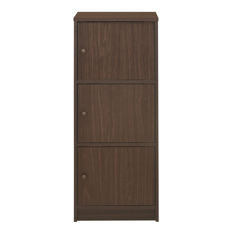 Timon 3 Door Book Case (Walnut)