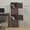 Timon 4 Door Book Case (Walnut)