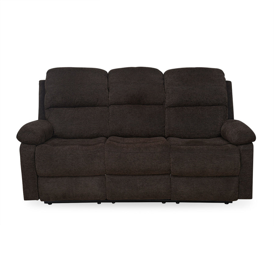 Jason 3 Seater Manual Recliner (Brown)
