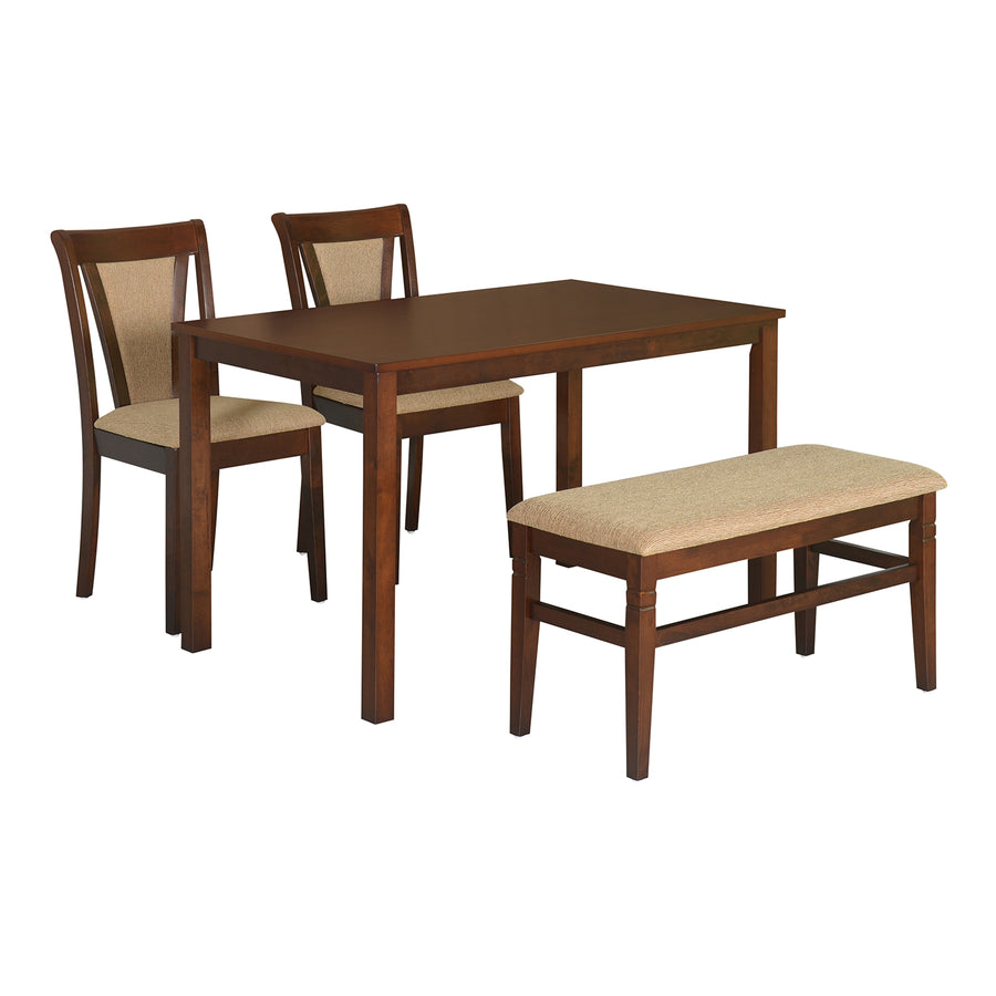 Jewel 1 + 2 + Bench Dining Set (Cappucino)