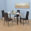 Joseph 4 Seater Dining Set (Brown)