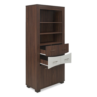 Kates Big Curio Cabinet (Walnut & White)