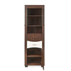 Kates Medium Curio Cabinet (Walnut & White)