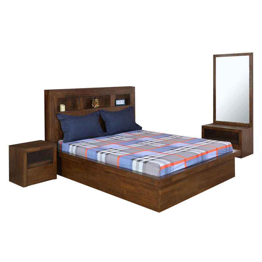 Lincoln King Bedroom Set (Walnut)