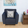 Livia 1 Seater Sofa (Blue)