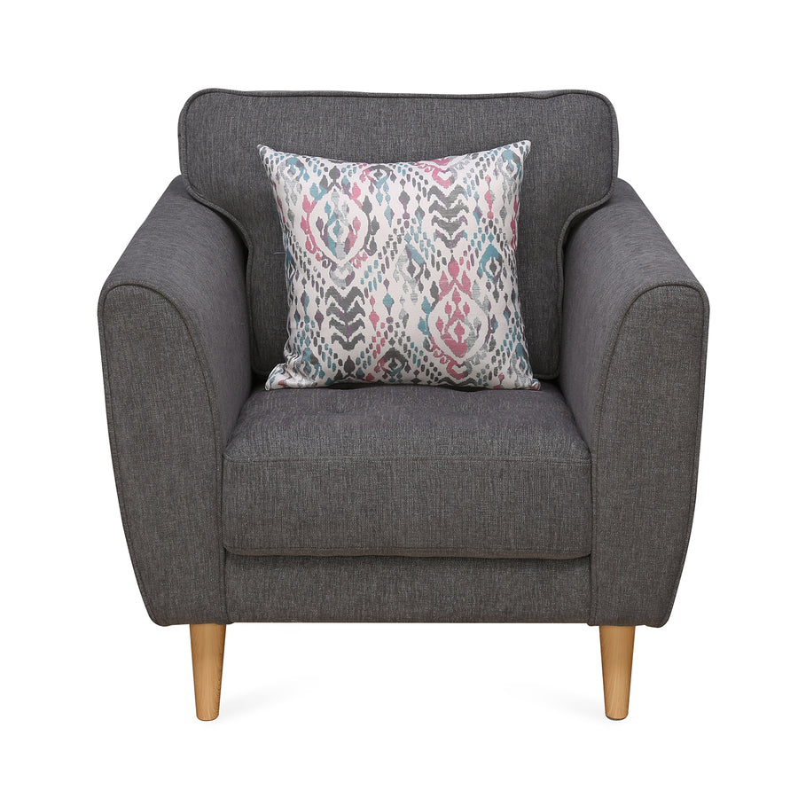 Livia 1 Seater Sofa (Grey)