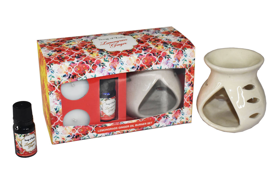 Song of India Lemongrass Ginger Little Pleasures Vaporiser Burner Set