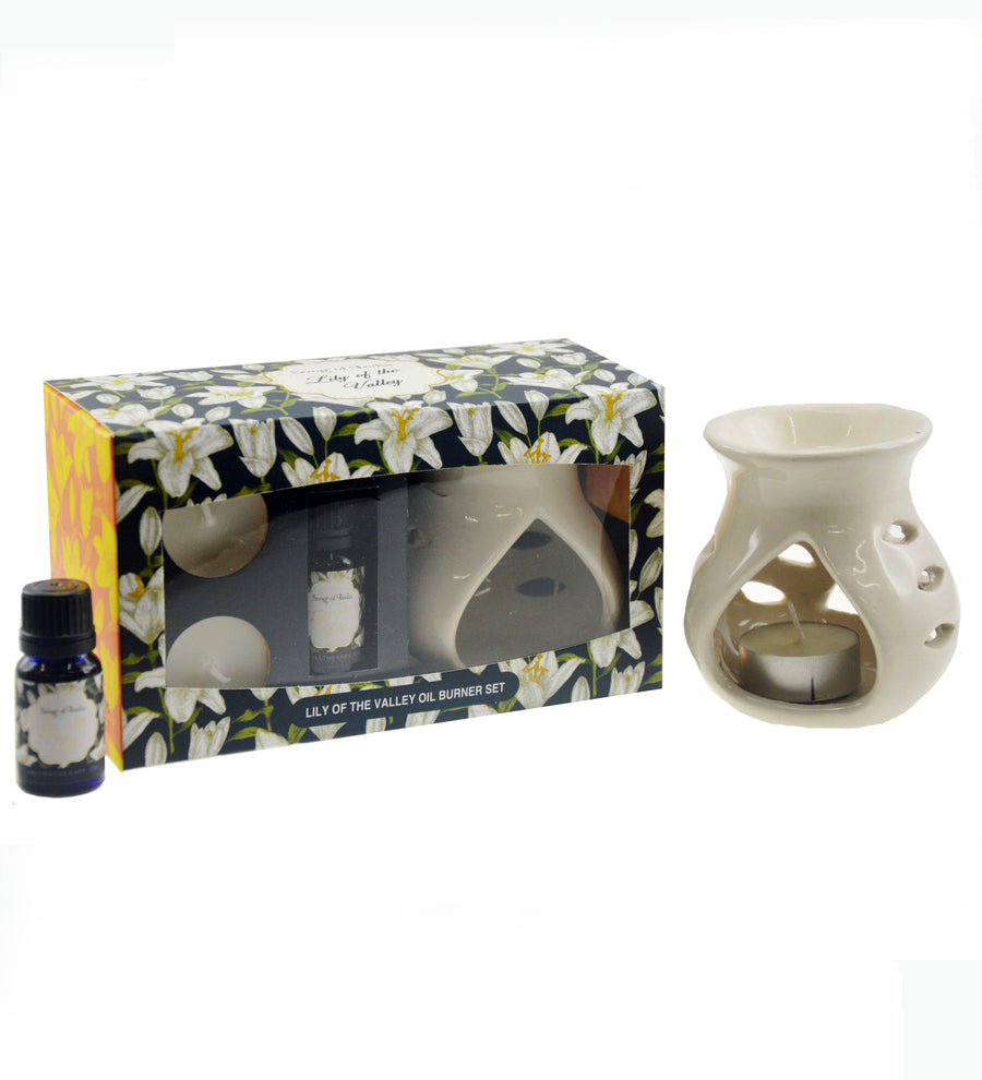Song of India Lily of the Valley Little Pleasures Vaporiser Burner Set