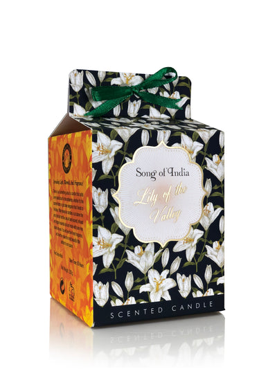 Song of India 200 g Lily of the Valley Soy Scented Candle Glass Jar