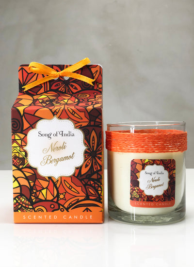 Song of India 200 g Neroli Bergamot Soy Scented Candle Glass Jar