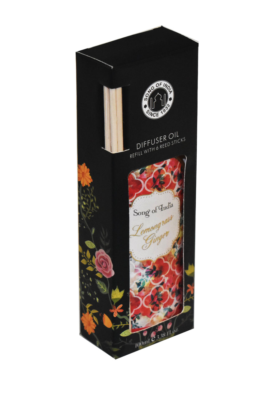 Song of India 100 ml Lemongrass Ginger Little Pleasures Diffuser Oil