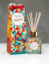 Song of India 100 ml Honeysuckle Reed Diffuser in Glass Jar with 6 Sticks for Home Fragrance
