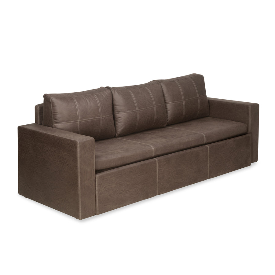 Lucy 3 Seater Sofa cum Bed (Brown)