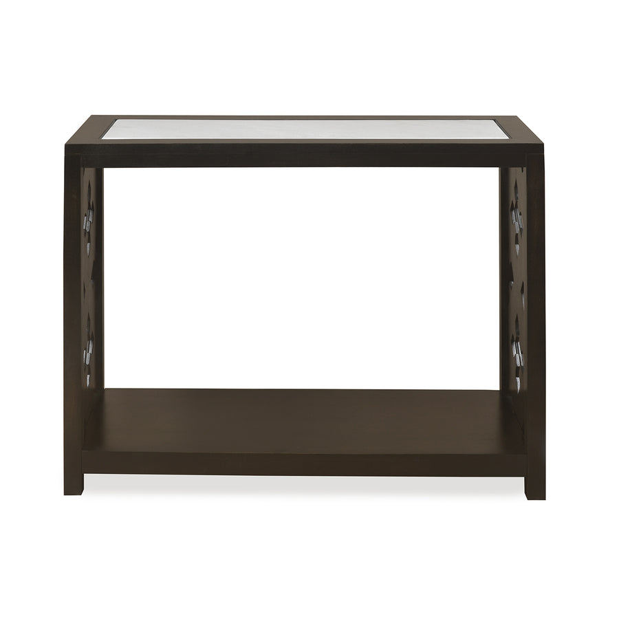 Lugo Marble Top Console Table (Walnut)