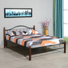 Valentina Double Bed (Walnut & Black)