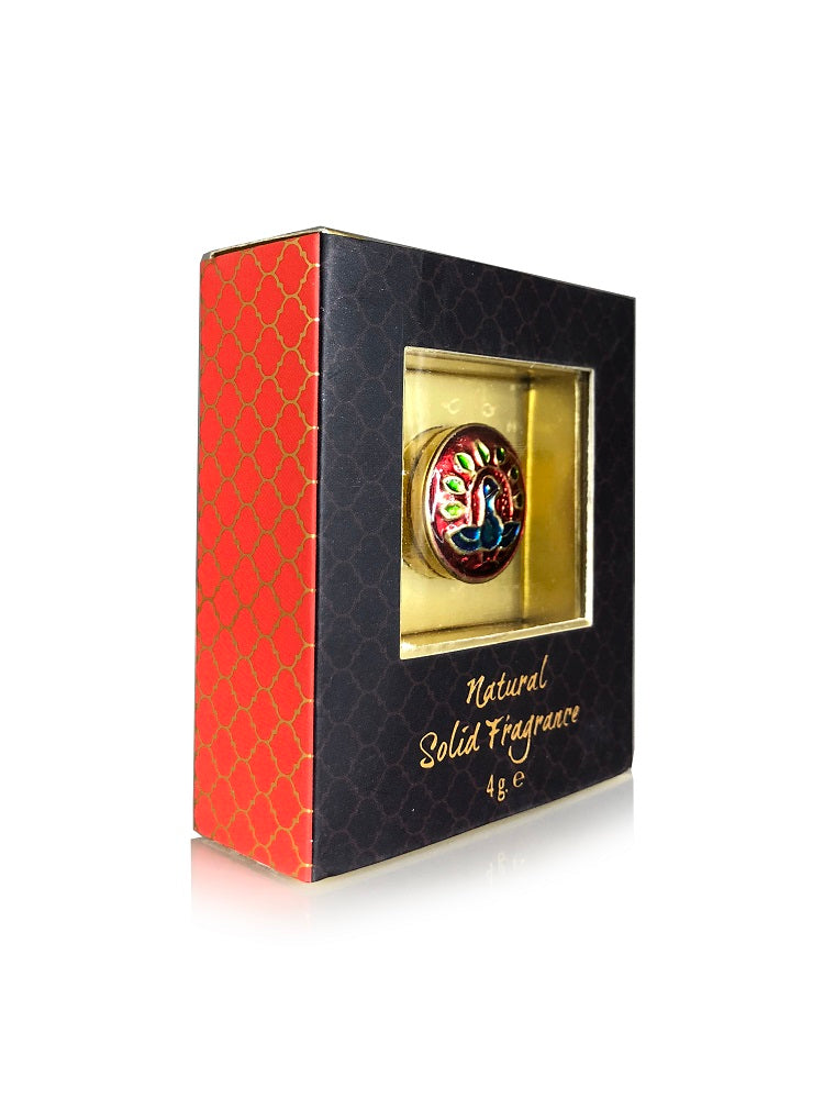 Song of India 4 g Indian Summer Solid Perfume in Brass Cloisonn /Meenakari Jar for Body Fragrance