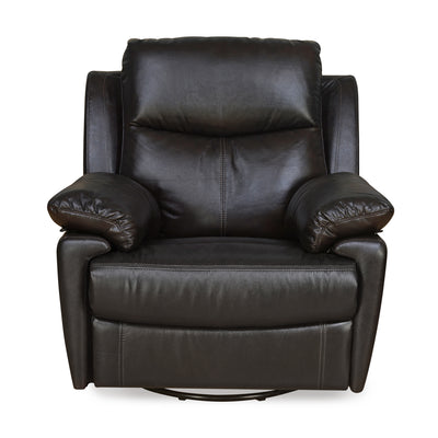 Marieta 1 Seater Sofa With Swivel Recliner (Brown)
