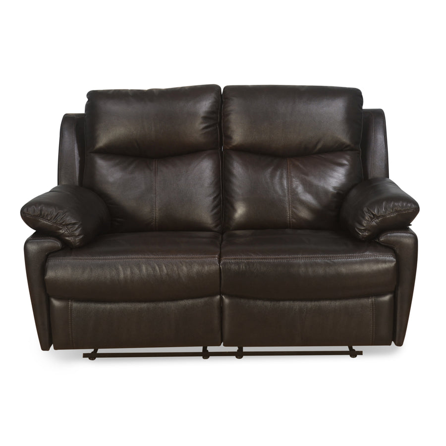 Marieta 2 Seater Sofa With Recliner (Brown)