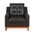 Marissa 1 Seater Sofa (Black)
